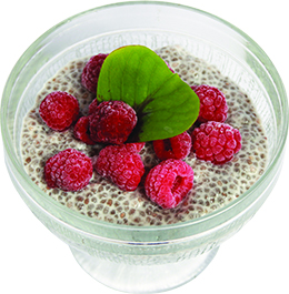Raw chia pudding