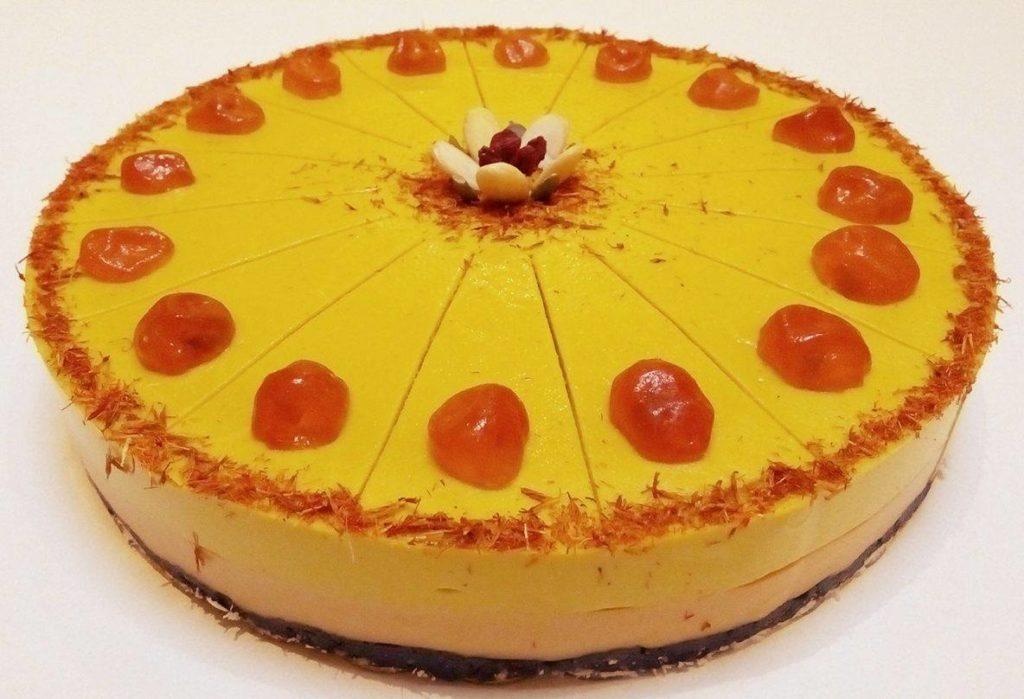 Сурова торта с 1 или 2 вида плодови крема
